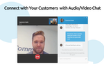 Comm100 Live Chat screenshot: Connect with Customers with Audio/Video Chat
