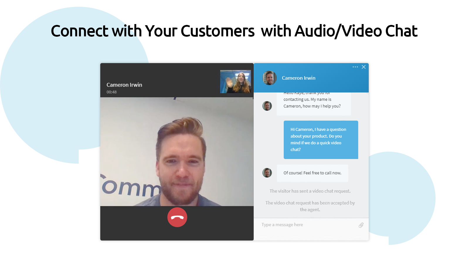 Connect with Customers with Audio/Video Chat