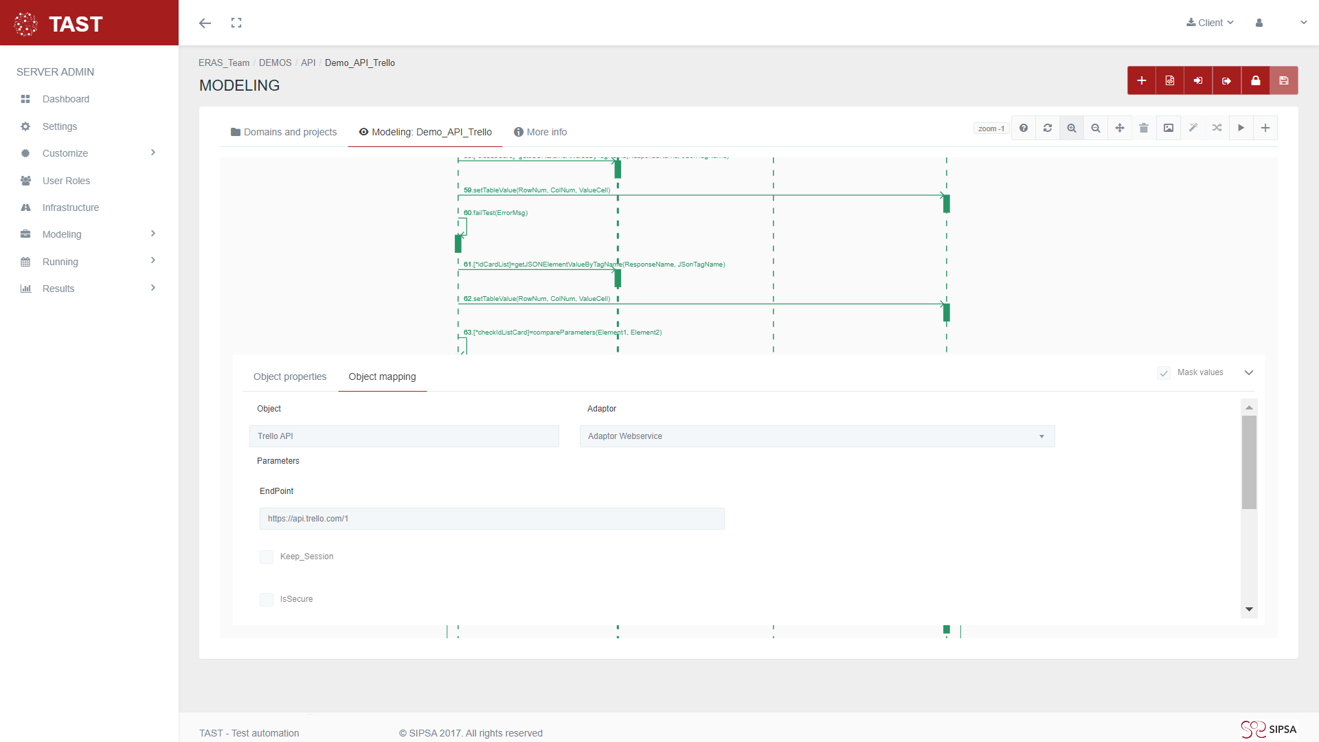 UML API Trello Excel, object mapping Adaptor Webservice