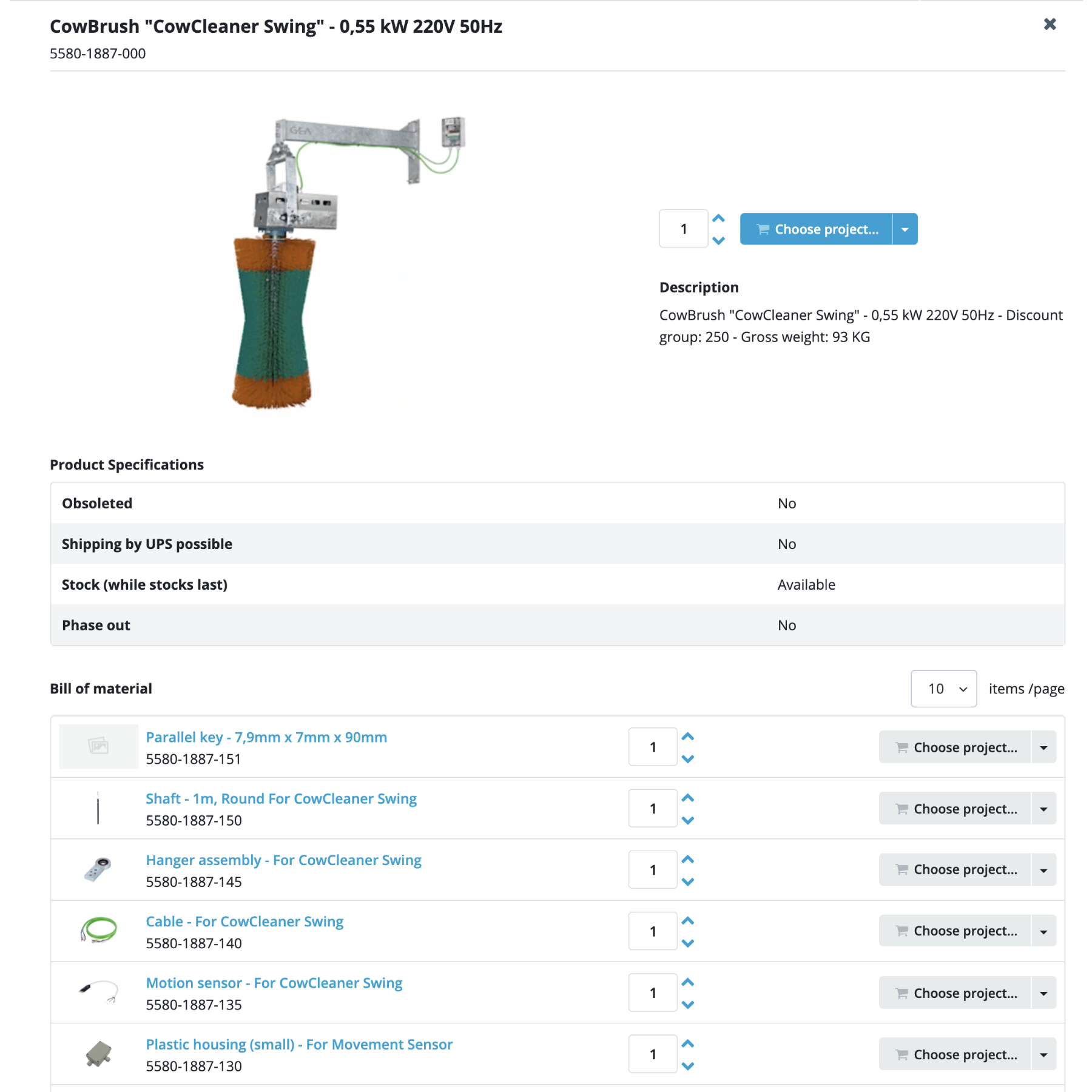 Bill of Materials in HiveCPQ. Generate a comprehensive list of all parts that are required to create the configured product. Use this file for documentation purposes and for identifying and ordering spare parts.