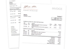 Captura de tela do Bill4Time: Dozens of professionally styled invoice templates. Pro and Enterprise users get customization so your invoices & reports precisely match your previous time billing system. Project a professional image to your clients.