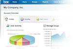 Captura de pantalla de Box: Track user activity visually from the activity dashboard
