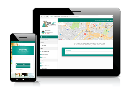 ezyVet's Customer Portal for online booking and more.