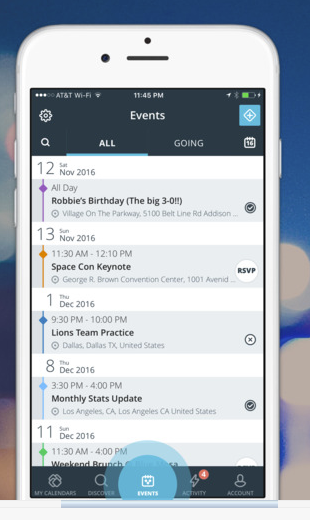 Store all calendars and event information in one place