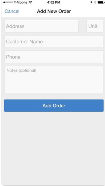 OnnaWay order form screenshot
