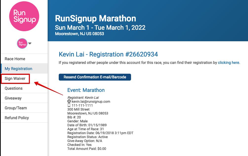RunSignup race registration