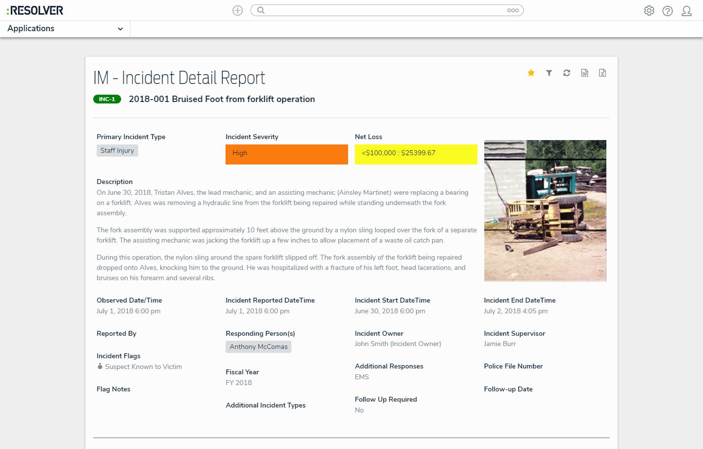 Incident Detail Report