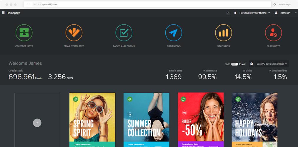 Mailify Software - Dashboard