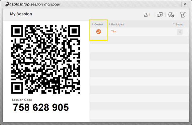 Splashtop Business Access QR code control