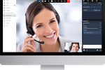Captura de pantalla de 3CX: 3CX's integrated video conferencing is easy to use and enables businesses to save time and money by hosting virtual meetings, whilst enjoying the benefits of face-to-face communication.