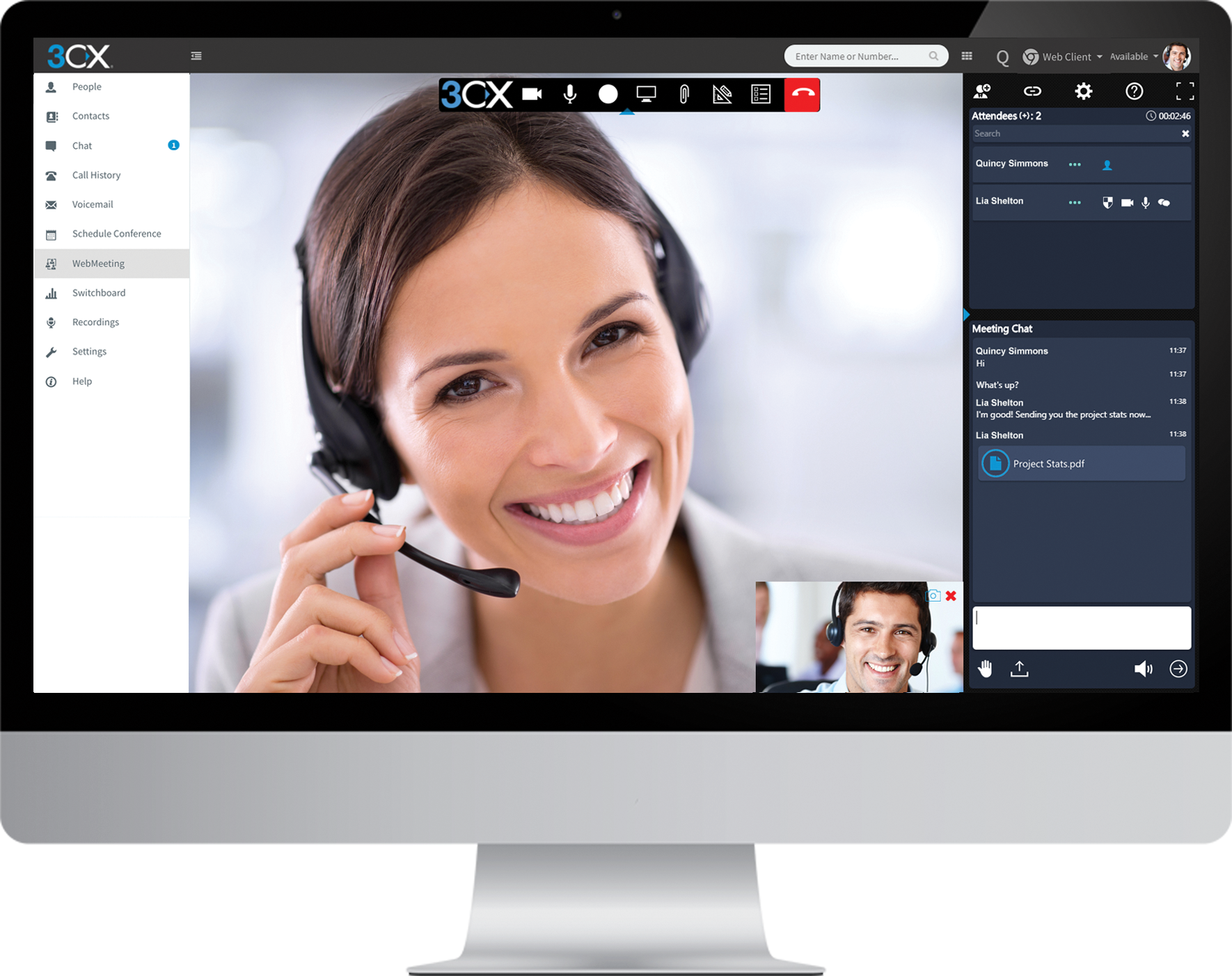 3CX's integrated video conferencing is easy to use and enables businesses to save time and money by hosting virtual meetings, whilst enjoying the benefits of face-to-face communication.