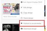 Captura de pantalla de PosterMyWall: PosterMyWall social media publishing