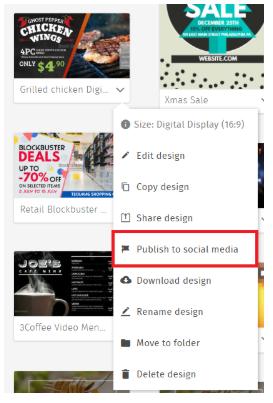 PosterMyWall social media publishing