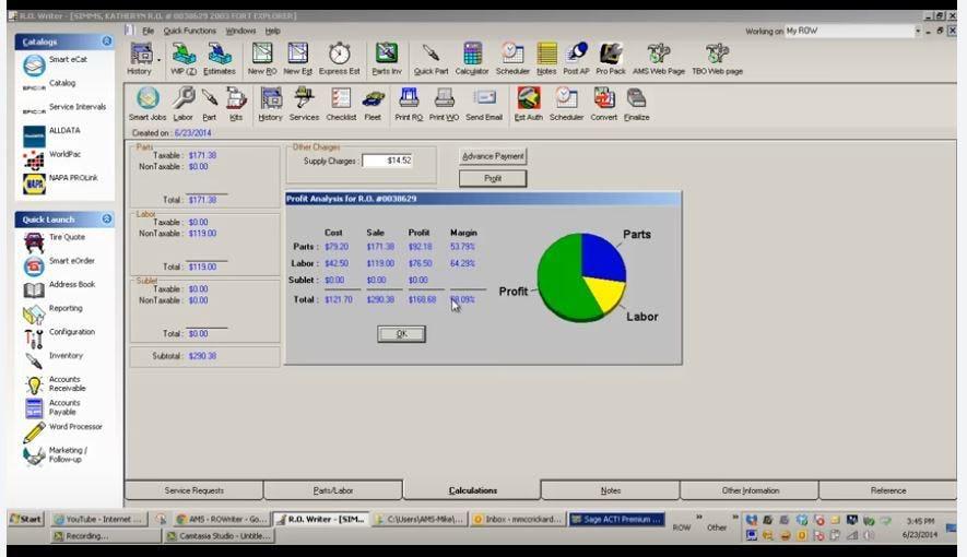 R.O.Writer Software - Profit analysis