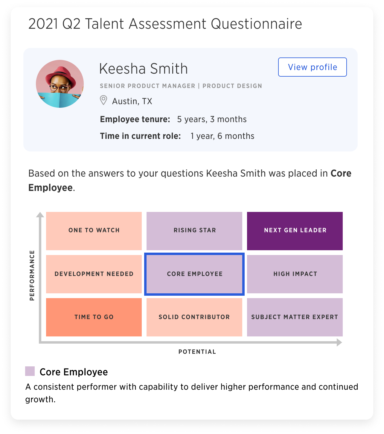 Identify high-potential employees, enable proactive leadership development, and build data-driven succession plans with Kazoo's evaluation and segmentation tools.
