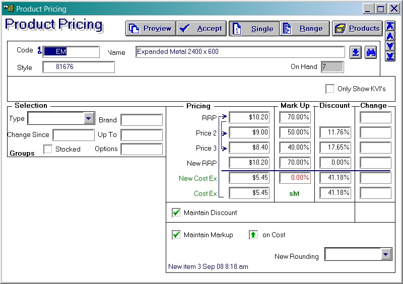 Acumen Software - Product Pricing