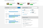 Qintil screenshot: Learners can view their compliance requirements via the dashboard