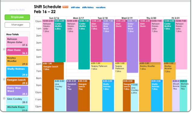 HelmBot shift schedule
