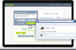Perkville screenshot: Customers can refer and promote on social media to earn points in Perkville