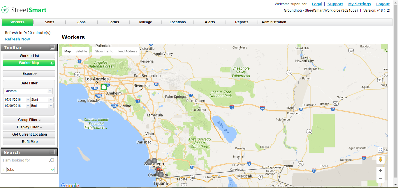 StreetSmart map view