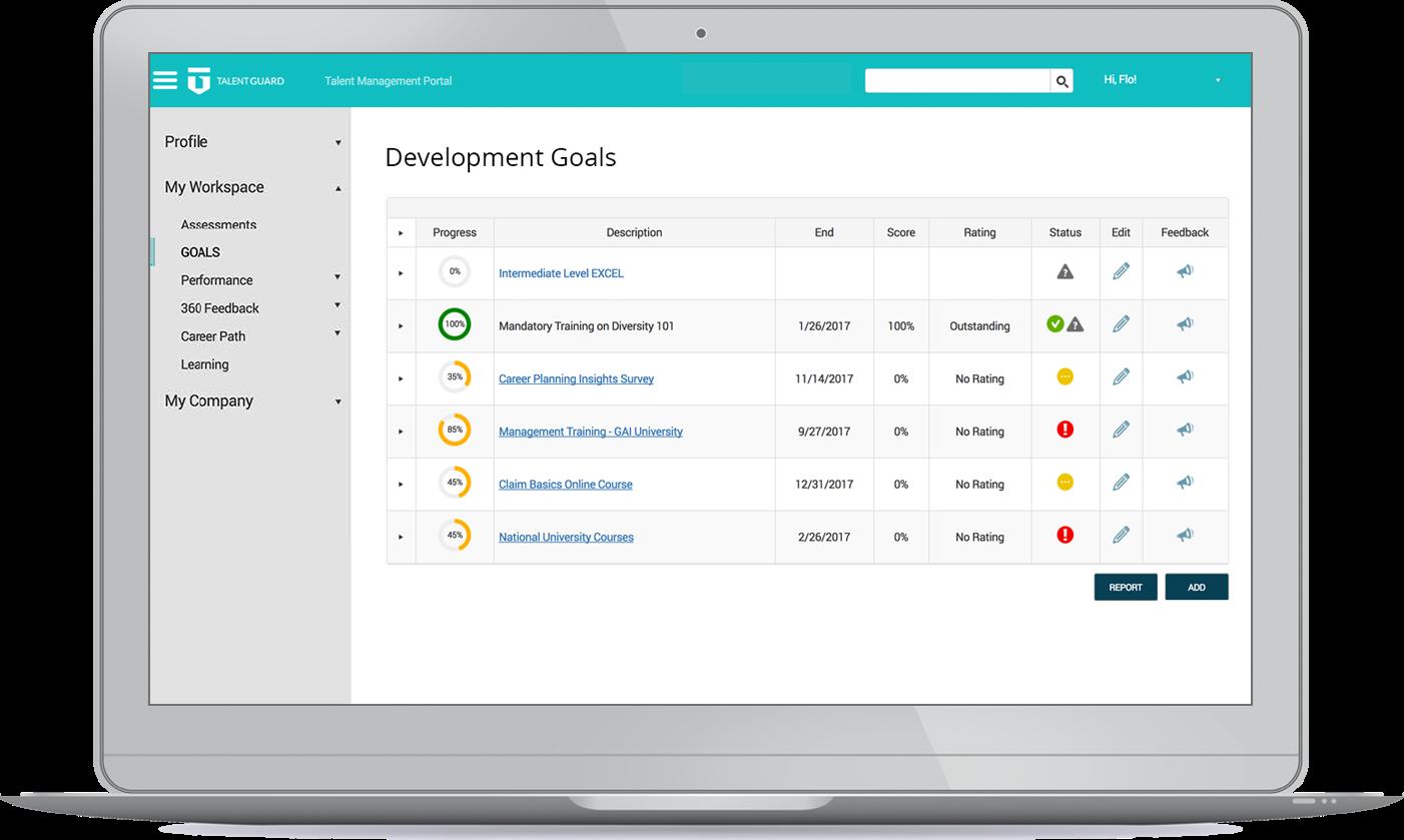 TalentGuard Software - Development goals
