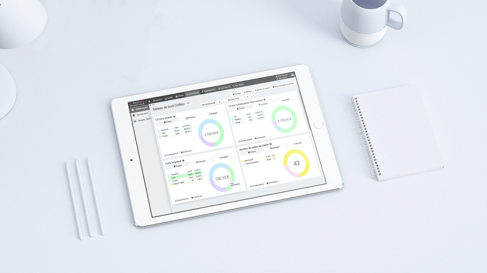 Users can track their business' performance
