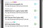 Dispatch Science screenshot: Driver app with driver status, earnings, and delivery run summary