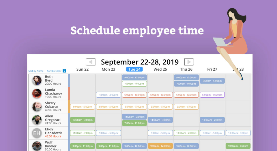eBillity Time Tracker employee scheduling