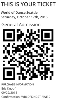 Tickets can be sent out from TicketSpice as mobile QR codes, with no need for printing