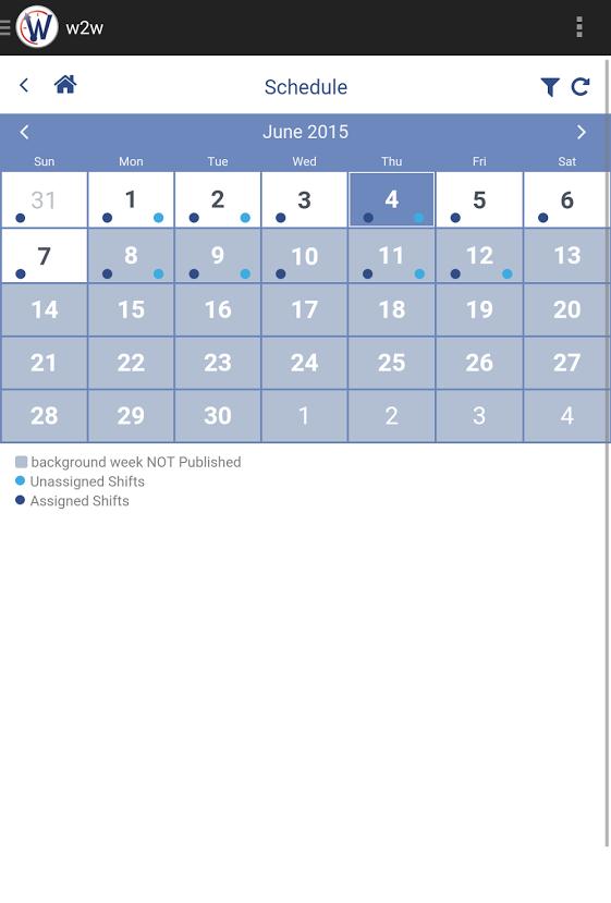 WhenToWork schedule