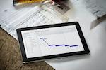 Co-construct screenshot: Gantt Schedule on Tablet