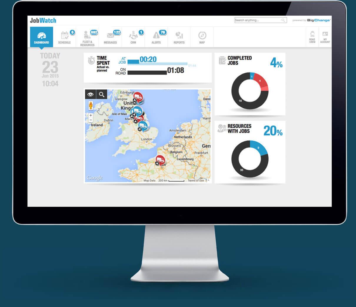 BigChange Software - Dashboard
