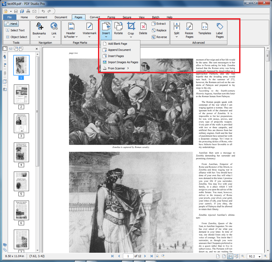 PDF Studio - edit pages