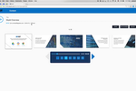 Skykit screenshot: The web-based content management tools allow signage programs to be sequenced based on the imported content and previewed visually