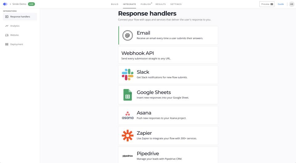 Niro screenshot: Niro response handlers