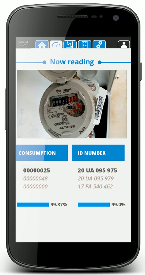 Mobile version of our Utility Meters reading software.