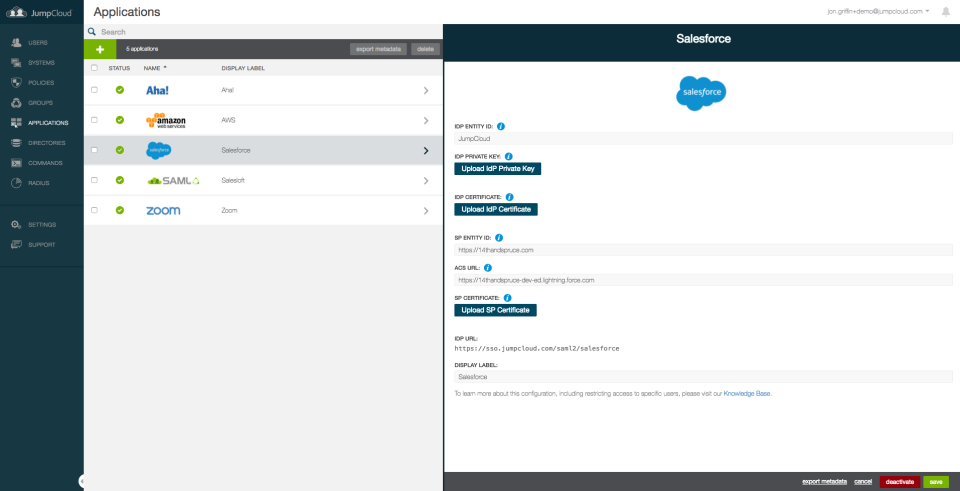 JumpCloud Directory Platform Software - Gain system management capabilities, all from one browser-based admin console