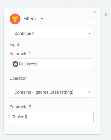Filters allow users to define the circumstances under which a workflow should continue