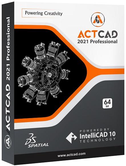 ActCAD 2021 Professional Software - 2