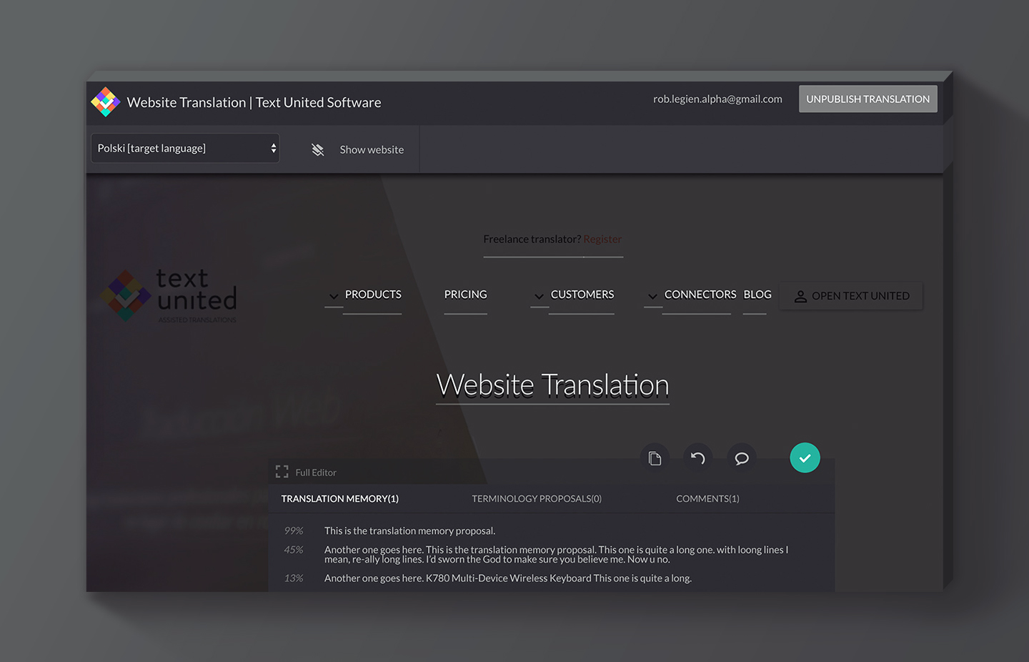 Translate your website in the Live Editor, within your browser