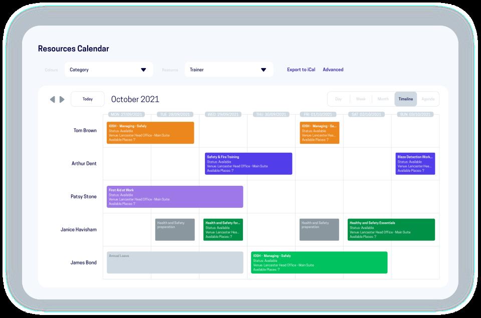 accessplanit Software - accessplanit resource calendar