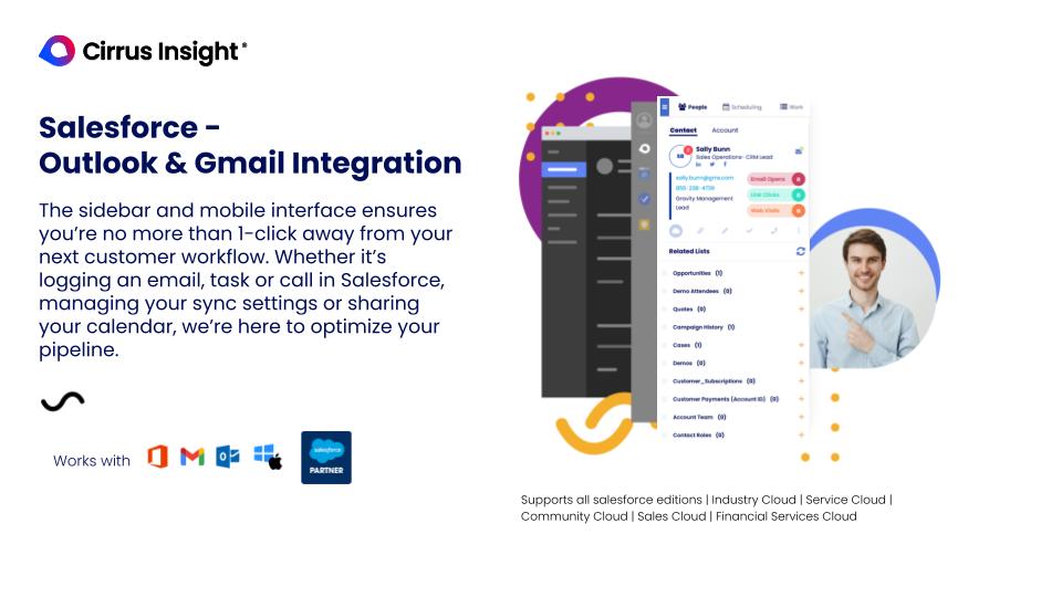 Cirrus Insight Software - Salesforce - Outlook & Gmail integration.