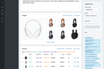 Shopify screenshot: Product page