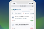 TOP PRODUCER screenshot: Top Producer CRM is mobile-optimized, enabling use on any device