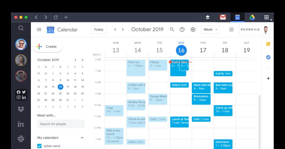Google Calendar in Shift