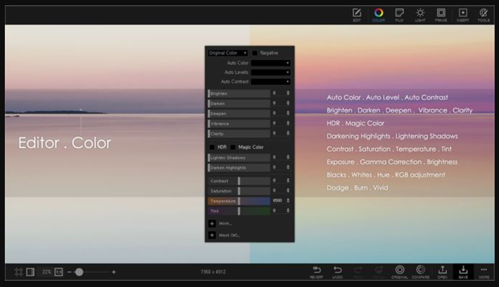 PhotoScape X screenshot: PhotoScape X editor