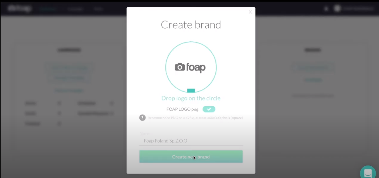 Foap creating brand