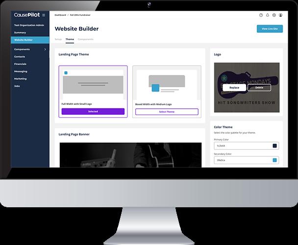CausePilot create websites