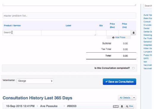 View consultation histories in IDEXX Neo