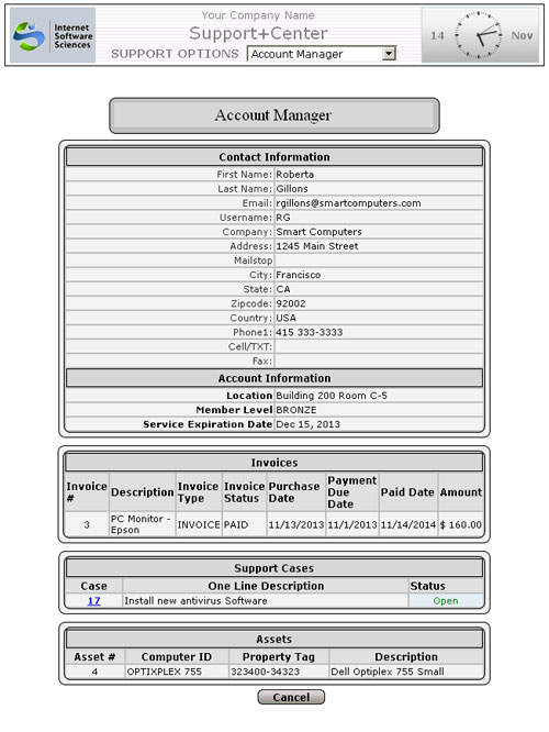 Account Manager Screen